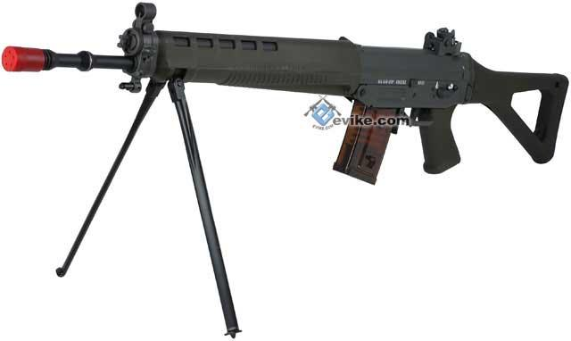 Pre-Order ETA April 2018 G&G Top Tech Swiss Arms Licensed GS550 Airsoft AEG Rifle with Side Folding Stock - OD Green (Package: Gun Only)