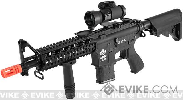 G&G Combat Machine 16 Raider CQB Airsoft AEG Rifle - Black (Package: Add 9.6 Butterfly Battery + Smart Charger)