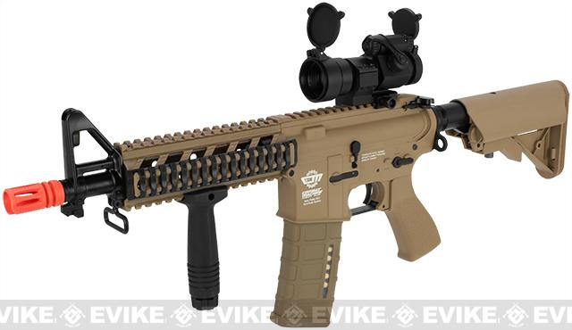 G&G Combat Machine 16 Raider CQB Airsoft AEG Rifle (Package: Tan / Add 9.6 Butterfly Battery + Smart Charger)