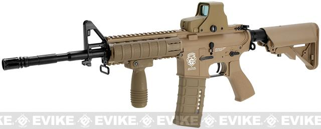 G&G GR15 Raider Full Size Carbine Electric Blow Back Airsoft AEG Rifle (Package: Tan / Add 9.6 Butterfly Battery + Smart Charger)