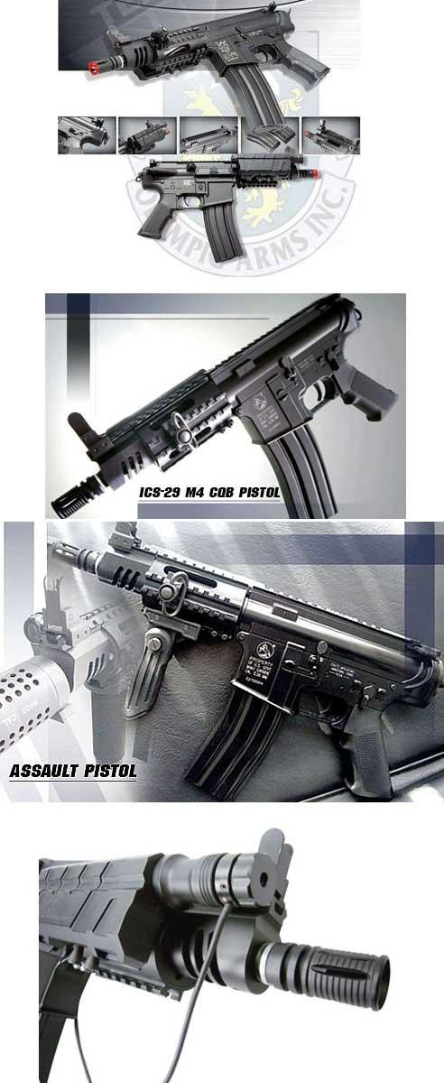 Bone Yard - ICS Full Metal M4 CQB Assault Pistol Airsoft AEG Rifle (Store Display, Non-Working Or Refurbished Models)