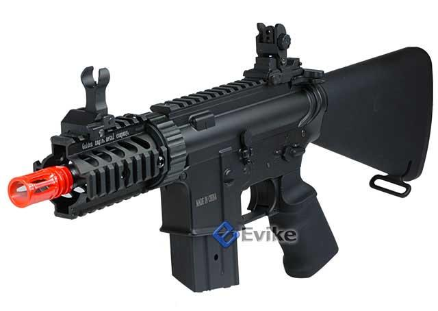 JG Li-poly Ready Stubby CQB M4 Airsoft AEG w/ Reinforced Black Metal Gear Box (Color: Black)