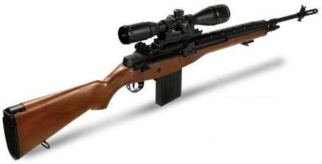 AGM MP008 M14 Full Size Airsoft AEG Sniper Rifle w/ Scope Mount - Imitation Wood (Package: Add 3-9x40 Scope + Bipod)