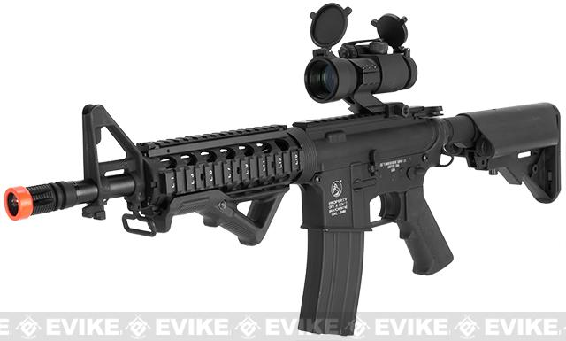 Colt Licensed M4 CQB-R Carbine Full Metal Airsoft AEG Rifle - (Package: Add Battery + Charger)