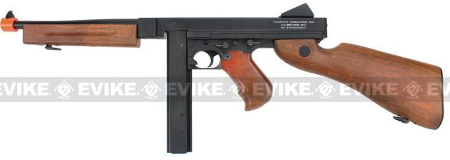 Licensed Thompson M1A1 Airsoft AEG Rifle by King Arms / CYMA w/ Metal Receiver & Gearbox (Package: Gun Only)