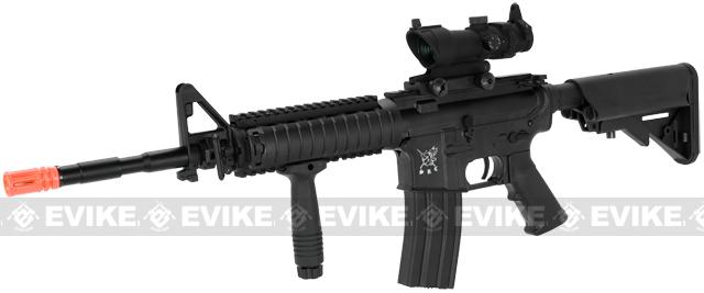 SRC SR-16 M4 RIS Carbine Airsoft AEG Rifle(Color: Black)