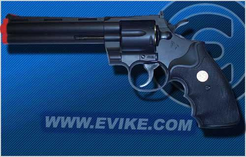 UHC Cobra  Spring Revolver (Length: 6 / Black with Black Grips)