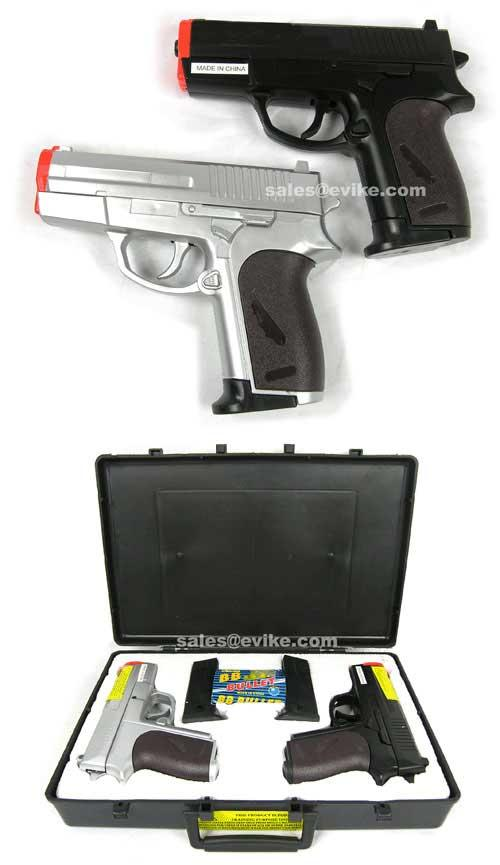 CSI Two Airsoft Spring Pistol w/ Case Gift Package