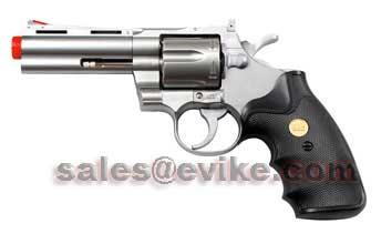 UHC Cobra  Spring Revolver (Length: 4 / Silver with Black Grips)
