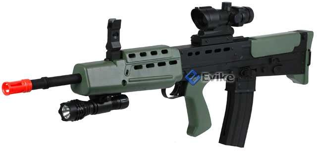 Bone Yard - 1:1 Scale Replica L85A1 British Bullpup Airsoft Rifle (Store Display, Non-Working Or Refurbished Models)