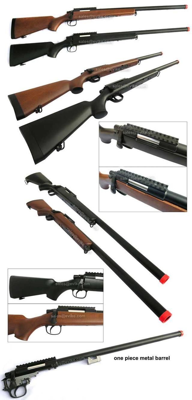 Bone Yard - AGM MP001 M700 Sniper Rifle (Black or Wood) (One Rifle) (Store Display, Non-Working Or Refurbished Models)