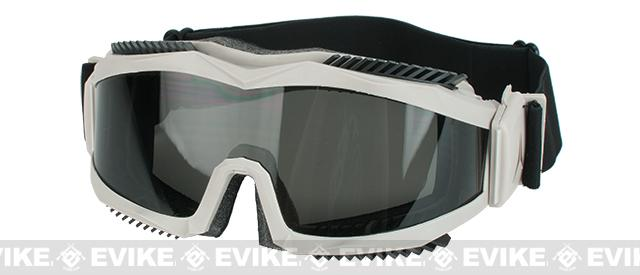 z Arena Industries Mozambik Full Seal Goggles in Tan - Gray Lens
