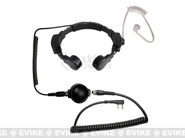 Code Red Headsets ASSAULT Tactical Throat Mic w/ PTT - Kenwood 2-Pin