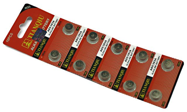 ALKALINE BATTERY: AG5 / 393A (10 PCS) Battery for Red dot scopes