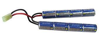 Intellect NiMH Battery for Airsoft AEGs with Small Tamiya Connector (Size: 9.6V 1600mAh)
