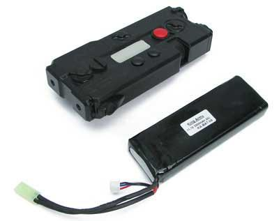 King Arms AN/PEQ-7 Battery Case w/ 11.1V 3300mAh 20C Lithium Battery