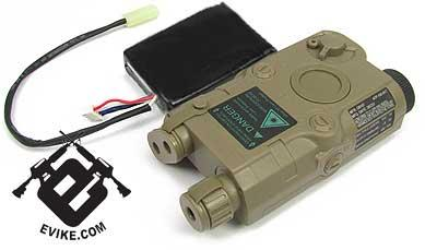 Matrix AN/PEQ-15 Case w/ 11.1V Lipoly Battery & Laser Sight (Desert)