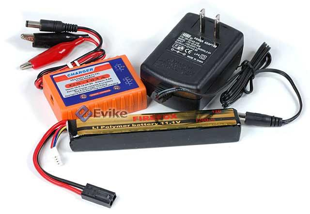 Firefox 11.1V 1250mah High Performance Stick Type Li-Poly Battery & Charger Set