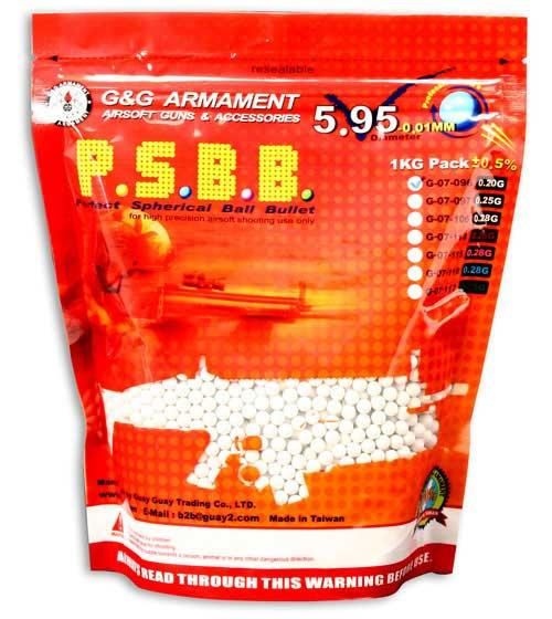 G&G High Grade 6mm Airsoft BB (Weight: .25g / 4000 Rounds / White)