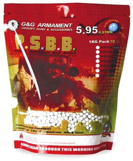 G&G High Grade 6mm Airsoft BB (Weight: .28g / 3500 Rounds / White)