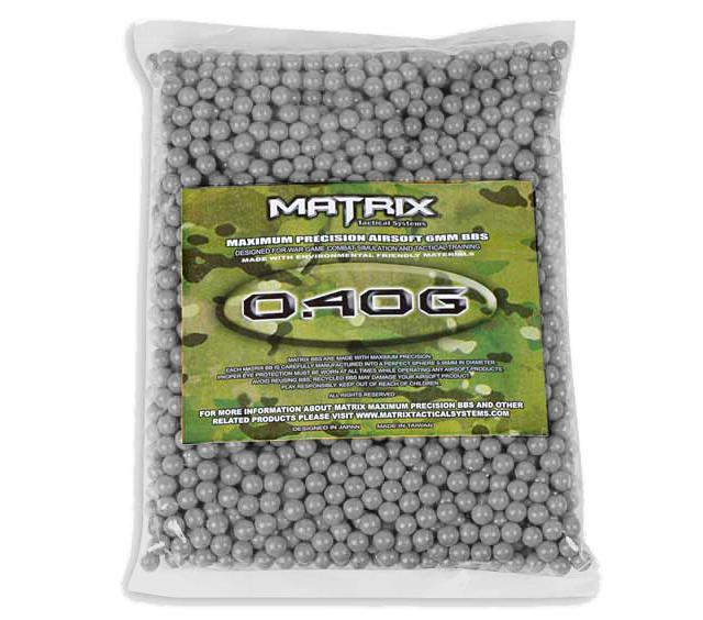 0.40g Sniper MAX Grade 6mm Airsoft BB by Matrix - 1,000 RDS
