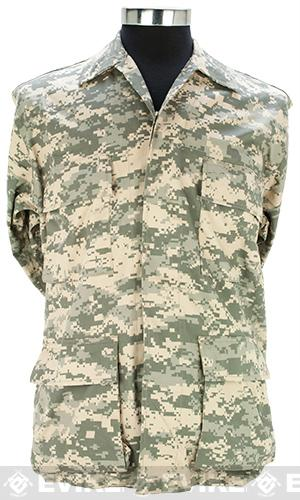 55/45 Cotton Poly Twill BDU Jacket - ACU (Size: X-Large)