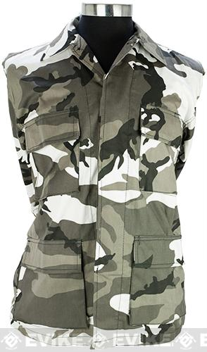 55/45 Cotton Poly Twill BDU Jacket - City Camo (Size: Medium)