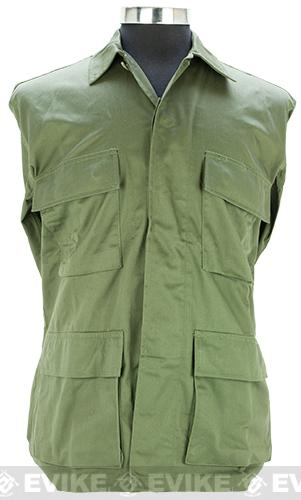 55/45 Cotton Poly Twill BDU Jacket - OD Green (Size: Large)