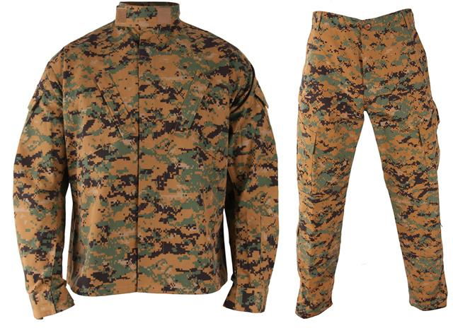 z Matrix Deluxe USMC Style Combat Uniform Set (Digital Woodland) - Small