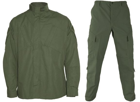 Matrix Deluxe ACU Style Combat Uniform Set - OD Green (Size: Small)