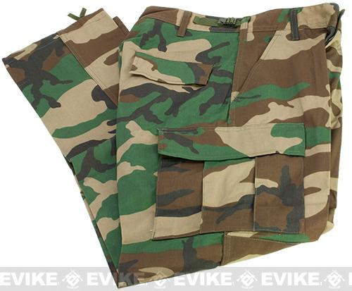 B.D.U. Pants 65/35 - Woodland (Size: Small)