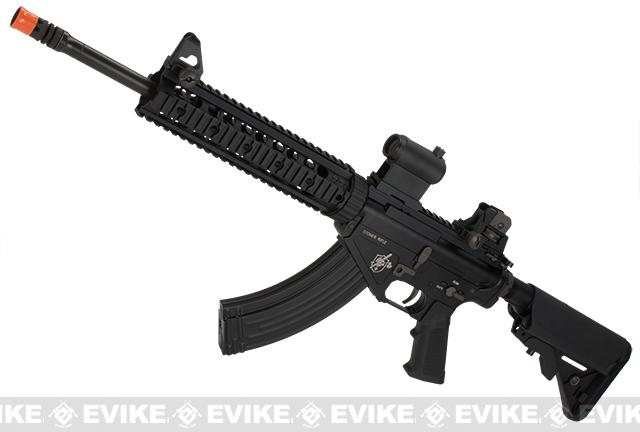 BOLT Airsoft Knights Armament Official Licensed SR-47 Railed B.R.S.S. Full Metal EBB Airsoft AEG Rifle (Color: Black)