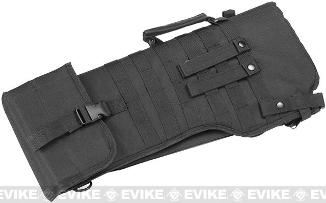 NcSTAR MOLLE Tactical Rifle / Shotgun Scabbard - Black