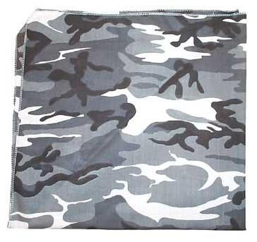 Tactical Premium Bandana - 100% cotton - Urban / City Camo