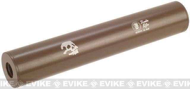 Matrix Airsoft Mock Silencer / Barrel Extension - 30 X 180mm (Style: Zombie Killer / Tan)