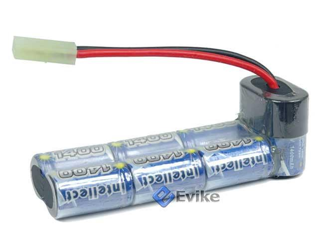 Intellect Custom NiMH Airsoft Battery Pack for Airsoft AEGs (Size: 9.6V 1600mAh / P90)