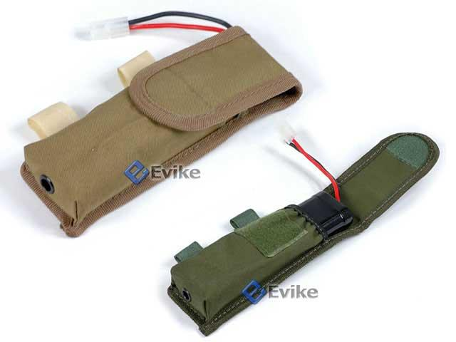 Matrix Tactical External Battery Pouch for Airsoft AEG (Tan)
