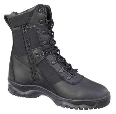 Rothco 5053 8 Forced Entry Side Zip Tactical Boots - Black (Size: 11)