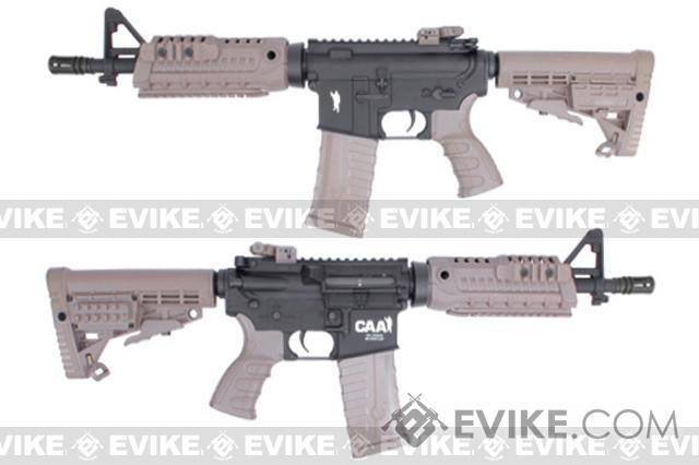 CAA Licensed Airsoft AEG Rifle by King Arms (Model: M4 CQB Dark Earth)