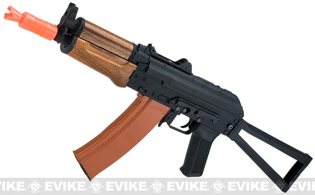 CYMA Sport AKS74U Airsoft AEG Rifle with Imitation Wood Furniture (Package: Gun Only)