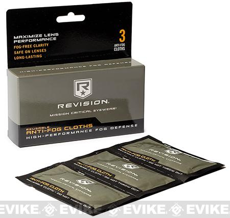 Revision Reusable Anti-Fog Cloths (Package of 3)