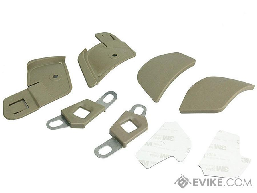 FMA Side Covers for Airflow Helmet (Color: Dark Earth)