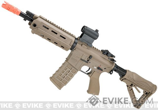G&G GCR4 G26 Full Metal Airsoft Electric AEG Rifle (Package: Tan / Add 9.6 Butterfly Battery + Smart Charger)