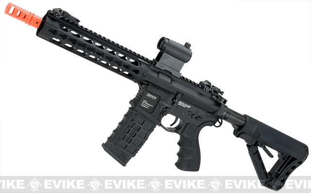 G&G GC16 Warthog Full Metal Airsoft AEG Rifle with 9 Keymod Rail - Black (Package: Gun Only)
