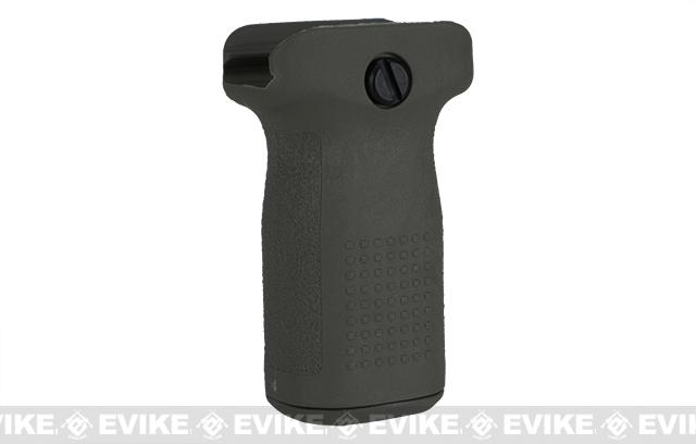 PTS Enhanced Polymer Foregrip-Short (EPF-S) Vertical Grip for Airsoft Hand Guards (Color: OD Green)