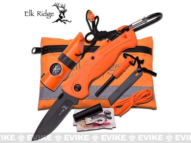 Elk Ridge Compact Survival Kit - Orange