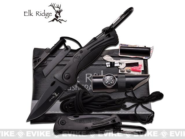 Elk Ridge Compact Survival Kit - Black