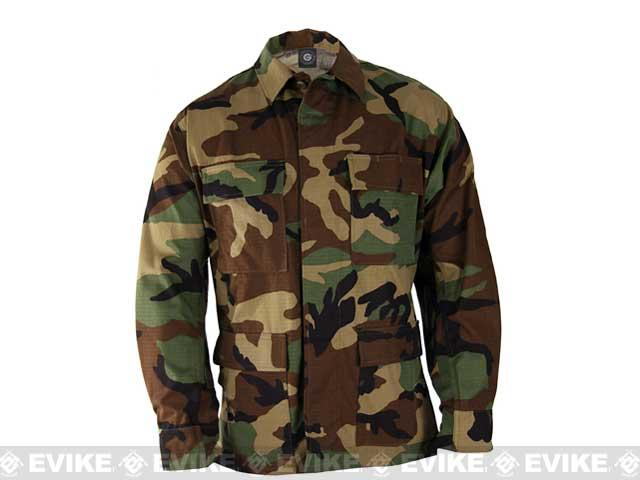 Genuine Gear BDU Coat - Woodland (Size: X-Large)