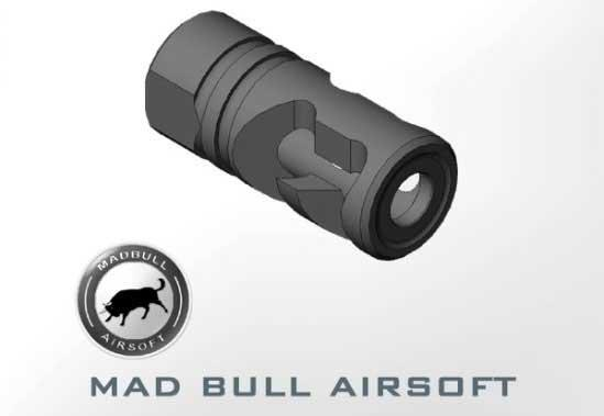 Mad Bull DNTC Compensator Black 14mm CCW Flashhider for A.E.G.