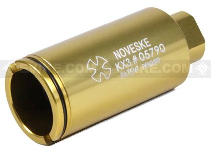 Madbull Noveske KX3 Sound Amplifier Flashhider (Color: Gold / 14mm Negative)